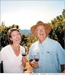 Hilda and Earl Jones, proprietors of Abacela Vineyards and Winery, Roseburg, Ore.