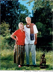Kitty and Fred Lipp, guidance counselor, founder of the Cambodian Arts and Scholarship Foundation,  Whitefield, Maine.