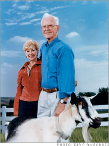 Ione and Bob Perry, real estate agent and occasional veterinarian, Omaha, Neb.