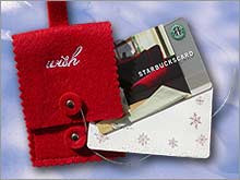 Starbucks holiday gift card for 2005