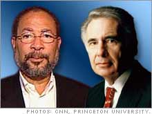 Time Warner Chairman Richard Parsons, left, and financier Carl Icahn.