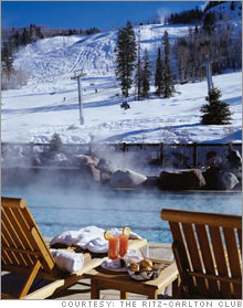 Heated pool at Aspen Ritz