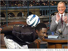 Adu was appearing on Letterman at age 14, before his first minute of pro soccer.