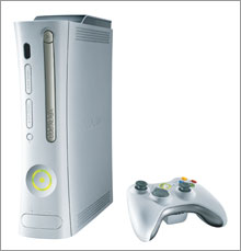 Microsoft's Xbox 360, which hits stores Nov. 22.