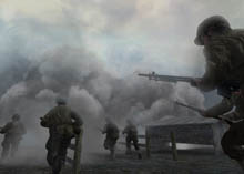 Call of Duty 2 is one of Xbox 360's better launch games.