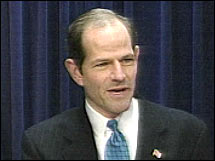 New York AG Eliot Spitzer has been called anti-business, but handlers say that won't hurt him in the campaign.