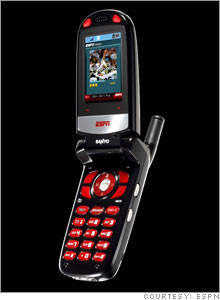The new Mobile ESPN cell phone, which goes on sale on the Web Friday and in stores on Super Bowl Sunday.