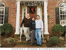 Empty-nesters Jim and Diane Smith, with son Jimmy, are planning to trade down to a smaller home.