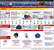 MLB.com's online retail offering has kept the site busy in the baseball's off season.