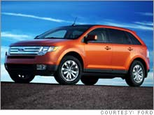 The Ford Edge, the new crossover vehicle unveiled at the Detroit auto show Sunday.