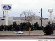 Ford's Wixom, Mich., assembly plant, one of the plants waiting to hear Monday if it will be closed.