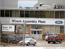 The Ford Wixom plant is one of three U.S. assembly plants identified for closing Monday.