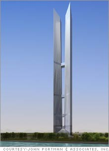 The 2,000-foot Incheon Tower will be at the center of a 1,500-acre, $11 billion residential, office and hotel complex.