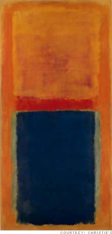 Rothko's Homage to Matisse sold for over $22 million at Christie's last auction, setting a world auction record for a piece from the period.
