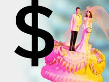 Up to 36 percent of couples end up spending more than they had planned on their big day.