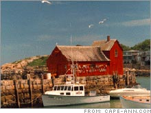 Rockport harbor -- the town is no longer