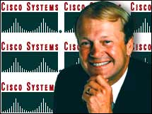 Cisco Systems CEO John Chambers gave an upbeat outlook for the company in February.