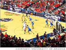 The University of Arizona has the most profitable men's basketball program in this year's NCAA tournament.