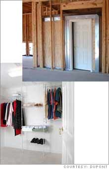 The FEMA certified Kevlar storm room can also serve as a walk-in closet or a wine cellar.