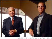 The happy days may seem distant to former Enron bosses Ken Lay (left) and Jeff Skilling (right), now on trial in Houston.