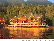 The King Pacific Lodge in British Columbia.