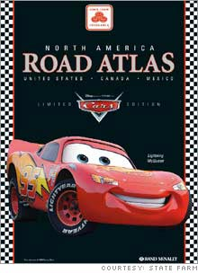 Limited edition North American road atlases with