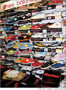 In Shanghai real New Balance shoes are sold alongside Henkees, a lawful knockoff made by a former supplier.
