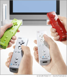 Players will use a remote control like device to play games on the Wii.