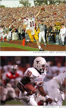 Who's a better choice for this weekend's NFL draft, USC's Matt Leinart (above) or Texas's Vince Young. Some non-traditional stat analysis gives Leinart the edge.