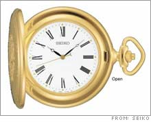Seiko's gold tone pocket watch