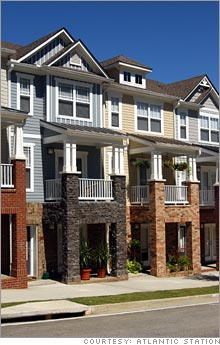 The townhouses at Atlantic Station are traditional in design and affordable.