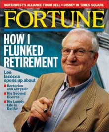 Lee Iacocca on the cover of our 1996 FORTUNE magazine.