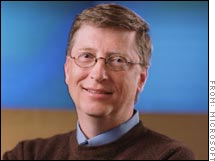Microsoft chairman Bill Gates is showing a humbler side.