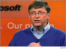 Microsoft Chairman Bill Gates announcing Thursday that he is stepping down from his day-to-day role with the company by July 2008.